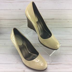 Cole Haan Patent Nude Wedge Shoes size 8B
